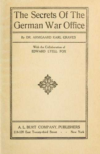 Download The secrets of the German war office.