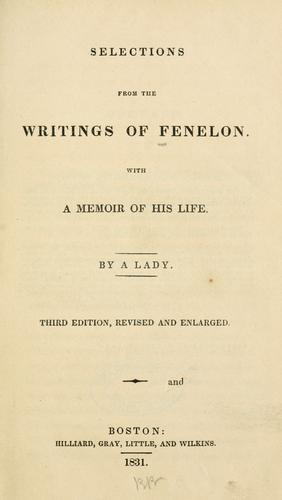 Download Selections from the writings of Fenelon.