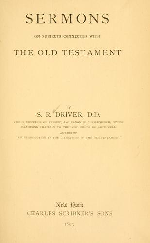 Download Sermons on subjects connected with the Old Testament.