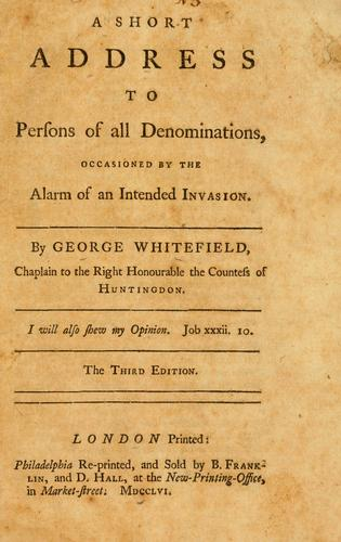 A short address to persons of all denominations
