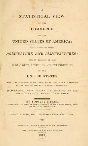 A statistical view of the commerce of the United States of America
