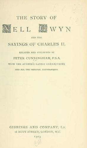 The story of Nell Gwyn by Cunningham, Peter