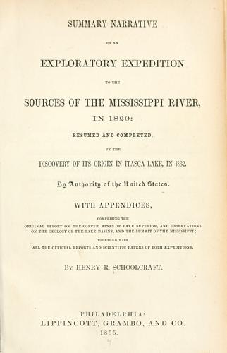 Download Summary narrative of an exploratory expedition to the sources of the Mississippi River, in 1820