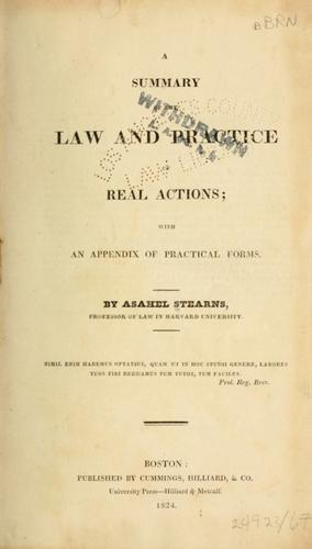 Download A Summary of the law and practice of real actions