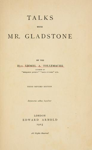 Download Talks with Mr. Gladstone