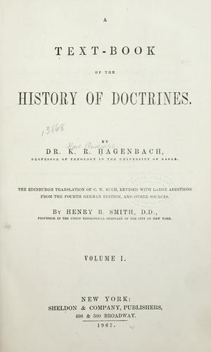 A text book of the history of doctrines