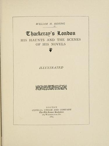 Download Thackeray's London