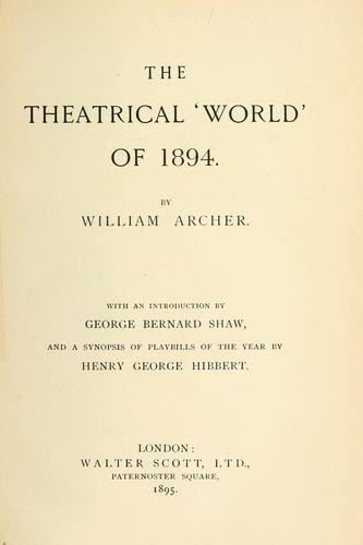 Download The theatrical 'world' of 1894