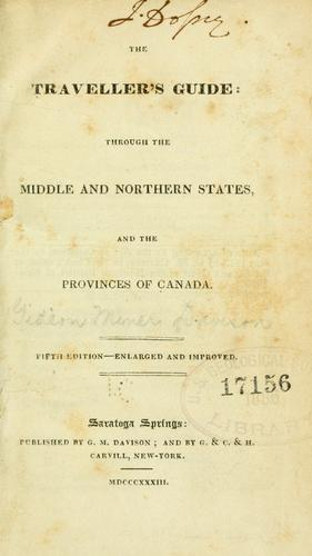 Download The traveller's guide through the middle and northern states, and the provinces of Canada.
