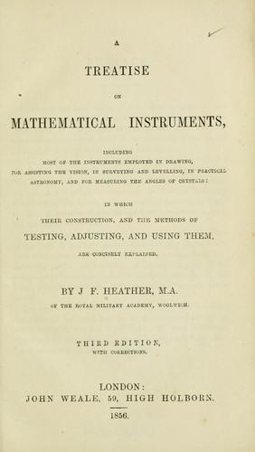 Download A treatise on mathematical instruments