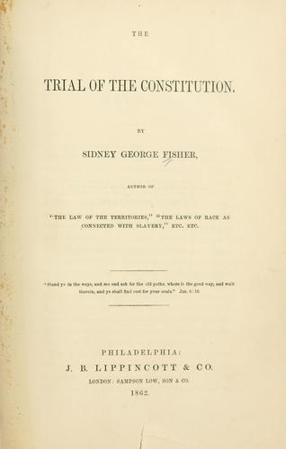 Download The trial of the Constitution