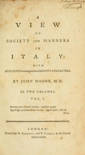 Download A view of society and manners in Italy