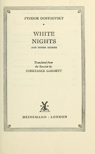 White nights and other stories.