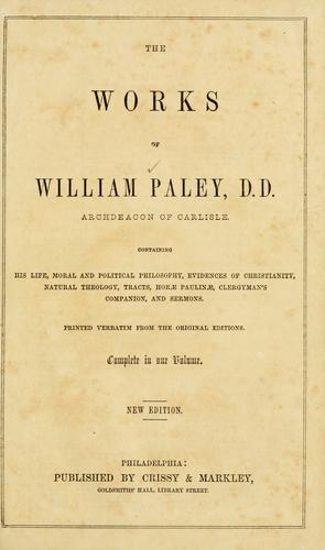 Download The works of William Paley …