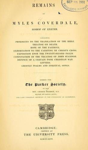 Writings and translations of Myles Coverdale, Bishop of Exeter