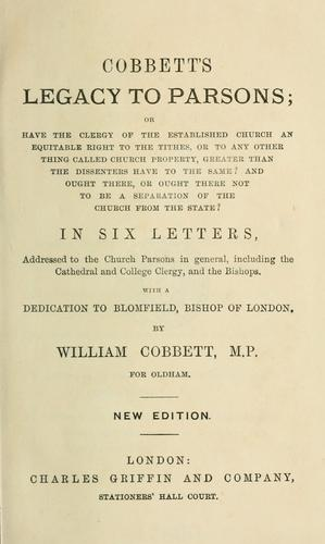 Download Cobbett's legacy to parsons