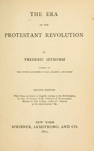 The era of the Protestant revolution
