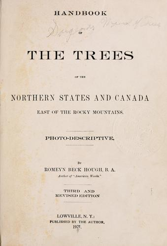 Download Handbook of the trees of the northern states and Canada east of the Rocky Mountains.