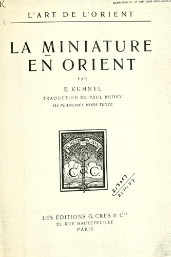 Download La miniature en Orient