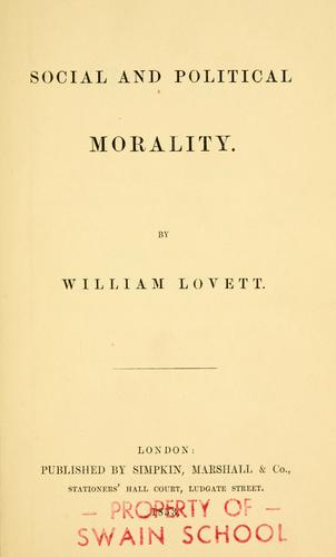 Download Social and political morality.