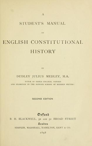 Download A student's manual of English constitutional history