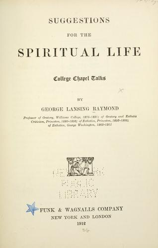 Download Suggestions for the spiritual life