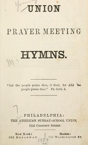 Download Union prayer meeting hymns.