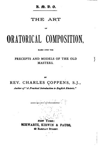 Download The art of oratorical composition