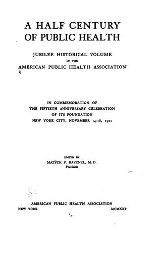 Download A half century of public health