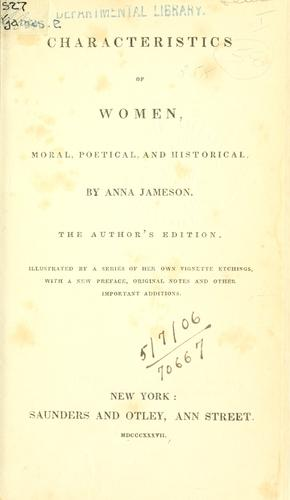 Download Characteristics of women, moral, poetical, and historical.