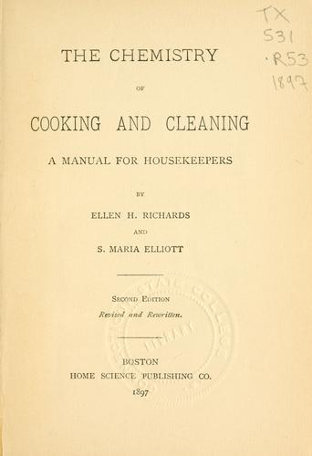 Download The chemistry of cooking and cleaning