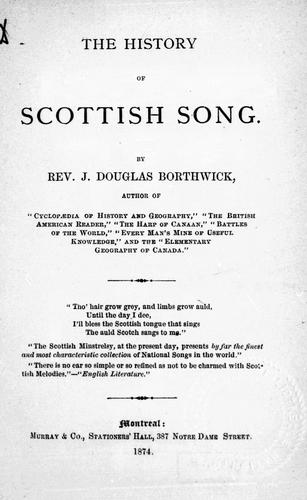 Download The history of Scottish song