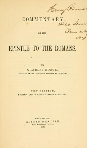 Download Commentary on the Epistle to the Romans