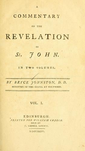Download A commentary on the Revelation of St. John.