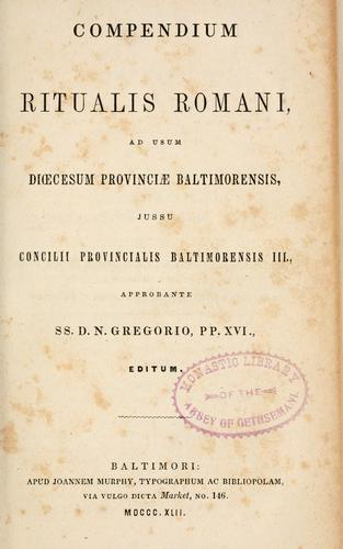 Download Compendium Ritualis romani