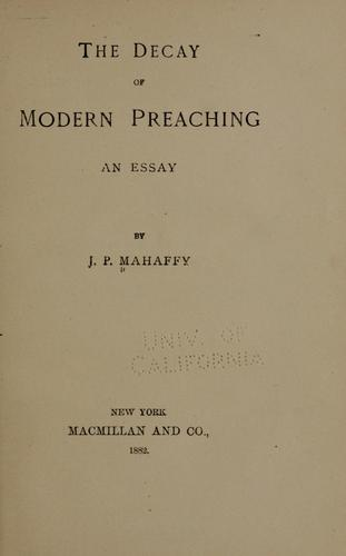 Download The decay of modern preaching