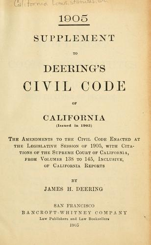 The Civil Code of the state of California