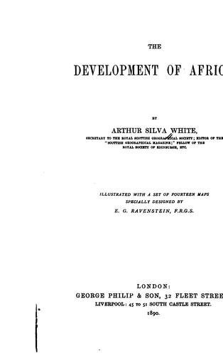 Download The development of Africa