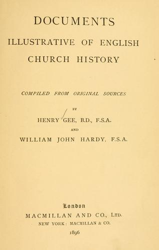 Download Documents illustrative of English church history
