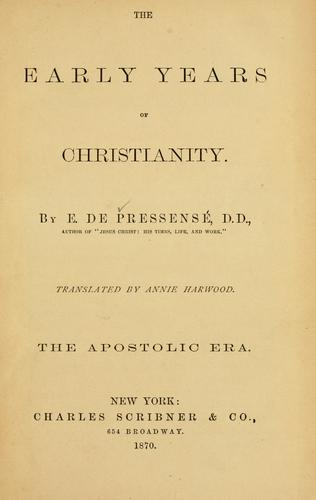 Download The early years of Christianity