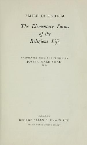 Download The elementary forms of the religious life