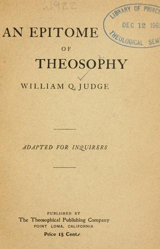 An epitome of theosophy.