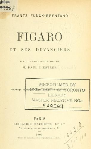 Download Figaro et ses devanciers.