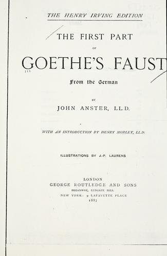 The first part of Goethe's Faust.