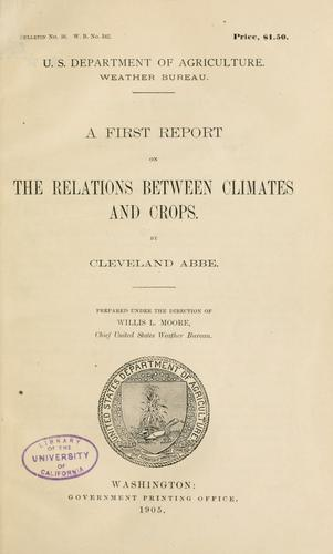 Download A first report on the relations between climates and crops.