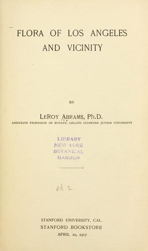 Download Flora of Los Angeles and vicinity