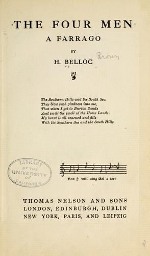 The four men by Hilaire Belloc