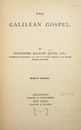 The Galilean gospel.