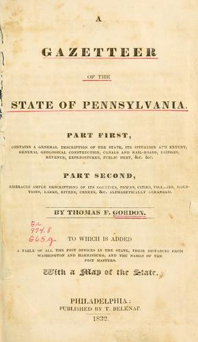 Download A gazetteer of the state of Pennsylvania