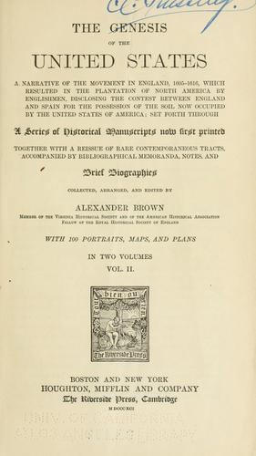 Download The genesis of the United States
